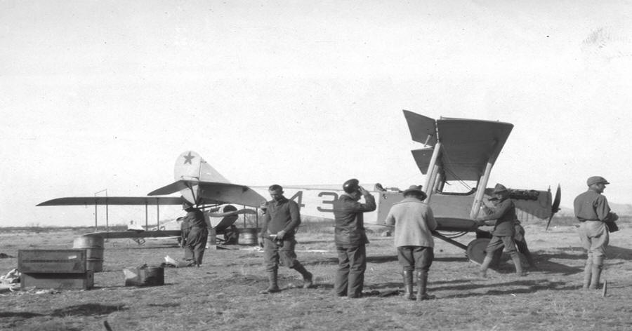 TheSquadron's airplanes were plagued with maintenance problems and in constant need of repair. (U.S. Army)